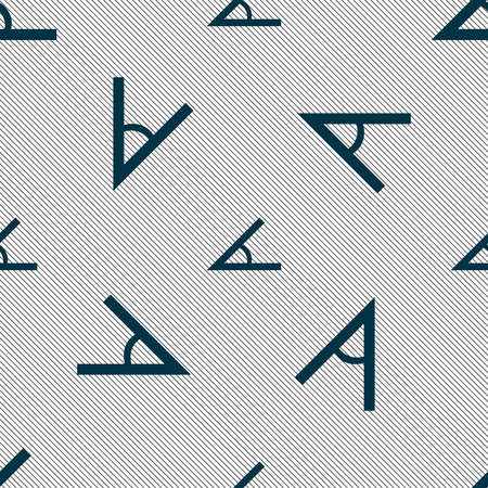 45: Angle 45 degrees icon sign. Seamless pattern with geometric texture. Vector illustration Illustration