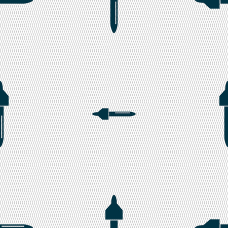 procreation: dropper sign icon. pipette symbol. Seamless abstract background with geometric shapes. Vector illustration