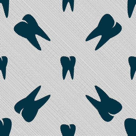 cavity braces: tooth icon. Seamless pattern with geometric texture. Vector illustration Illustration