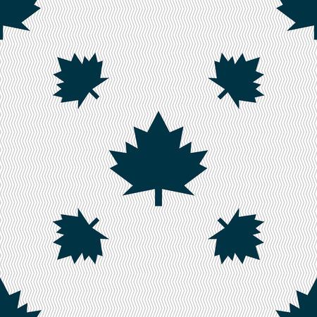 maple leaf icon: Maple leaf icon. Seamless pattern with geometric texture. Vector illustration Illustration