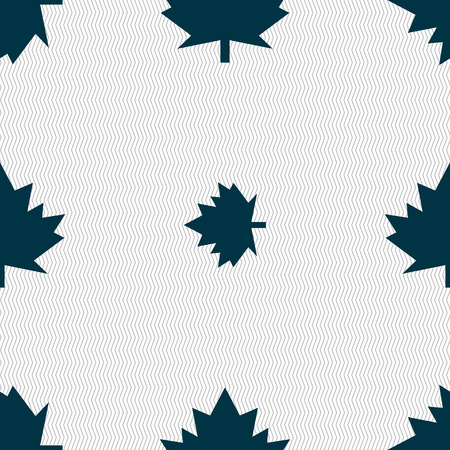 maple leaf icon: Maple leaf icon. Seamless abstract background with geometric shapes. Vector illustration Illustration