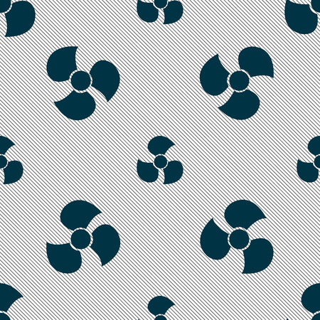 propeller: Fans, propeller icon sign. Seamless pattern with geometric texture. Vector illustration