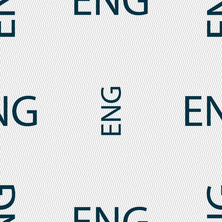 english culture: English sign icon. Great Britain symbol. Seamless abstract background with geometric shapes. Vector illustration