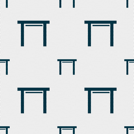 stool: stool seat icon sign. Seamless abstract background with geometric shapes. Vector illustration