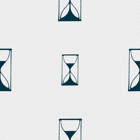 sand timer: Hourglass sign icon. Sand timer symbol. Seamless abstract background with geometric shapes. Vector illustration Illustration