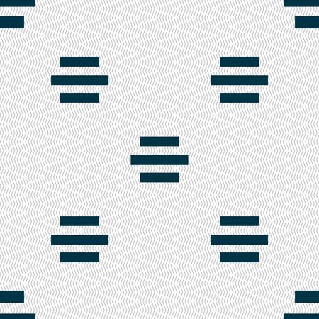 alignment: Centro signo icono de alineaci�n. Fondo abstracto incons�til con formas geom�tricas. Ilustraci�n vectorial Vectores