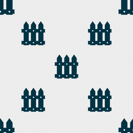 bucolic: Recinzione segno icona. Seamless sfondo astratto con forme geometriche. Illustrazione vettoriale