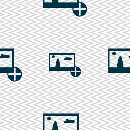 mime: Plus, add File JPG sign icon. Download image file symbol. Seamless abstract background with geometric shapes. Vector illustration Illustration
