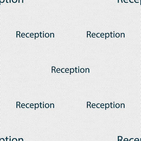 reception hotel: Reception sign icon. Hotel registration table symbol. Seamless abstract background with geometric shapes. Vector illustration Illustration