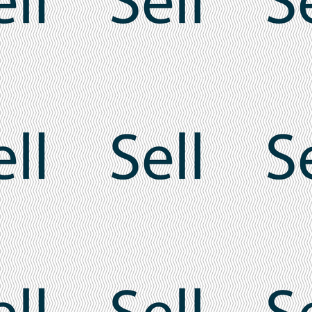 contributor: Sell sign icon. Contributor earnings button. Seamless abstract background with geometric shapes. Vector illustration