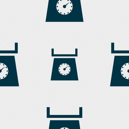 grams: kitchen scales icon sign. Seamless abstract background with geometric shapes. Vector illustration