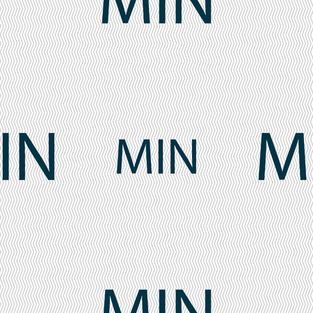min: minimum sign icon. Seamless abstract background with geometric shapes. Vector illustration