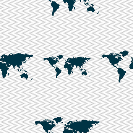 geography: Globe sign icon. World map geography symbol. Seamless abstract background with geometric shapes. Vector illustration Illustration