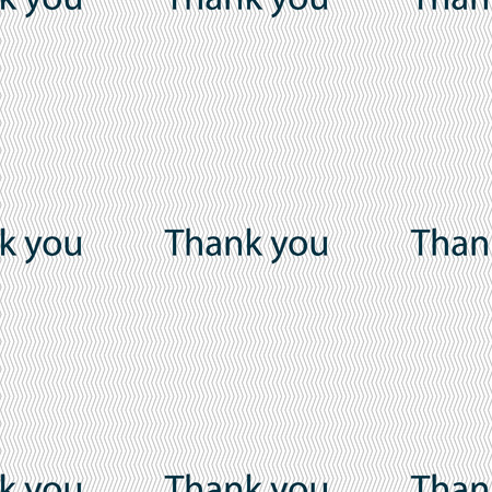 gratitude: Thank you sign icon. Gratitude symbol. Seamless abstract background with geometric shapes. Vector illustration Illustration