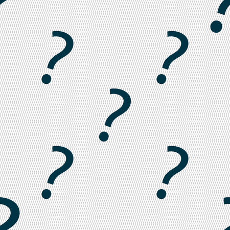 help symbol: Question mark sign icon. Help symbol. FAQ sign. Seamless abstract background with geometric shapes. Vector illustration Illustration