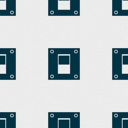 power switch: Power switch icon sign. Seamless abstract background with geometric shapes. Vector illustration Illustration