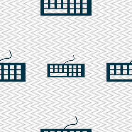 qwerty: Computer keyboard Icon. Seamless abstract background with geometric shapes. Vector illustration Illustration