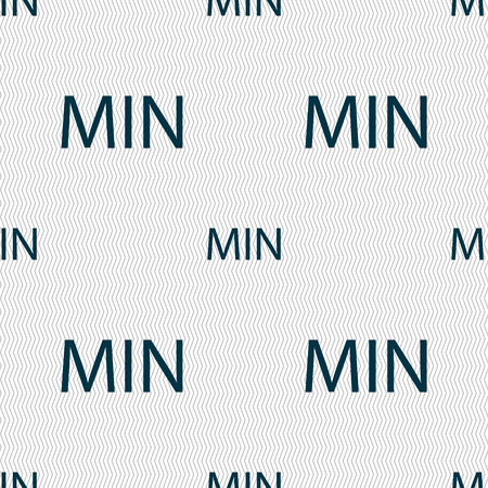 minimum sign icon. Seamless abstract background with geometric shapes. Vector illustration