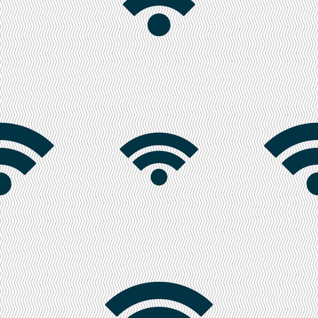 wifi sign: Wifi sign. Wi-fi symbol. Wireless Network icon. Wifi zone. Seamless abstract background with geometric shapes. Vector illustration Illustration