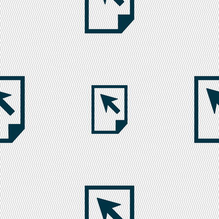docs: Text file sign icon. File document symbol. Seamless abstract background with geometric shapes. Vector illustration