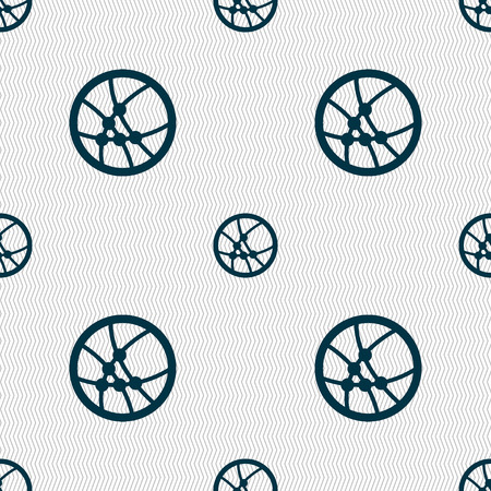 Basketball icon sign. Seamless abstract background with geometric shapes. Vector illustration