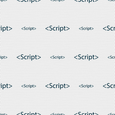 javascript: Script sign icon. Javascript code symbol. Seamless abstract background with geometric shapes. Vector illustration
