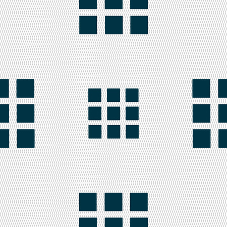 the view option: List sign icon. Content view option symbol. Seamless abstract background with geometric shapes. Vector illustration