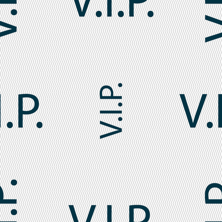 very important person sign: Vip sign icon. Membership symbol. Very important person. Seamless abstract background with geometric shapes. Vector illustration