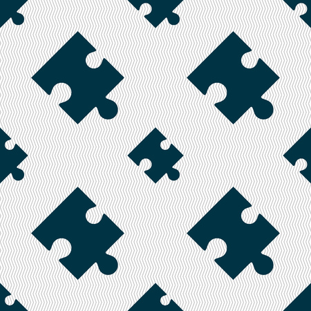 conundrum: Puzzle piece icon sign. Seamless abstract background with geometric shapes. Vector illustration Illustration