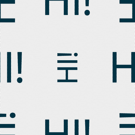 translation: HI sign icon. India translation symbol. Seamless abstract background with geometric shapes. Vector illustration