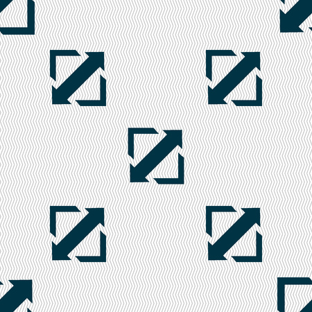 wider: Deploying video, screen size icon sign. Seamless abstract background with geometric shapes. Vector illustration