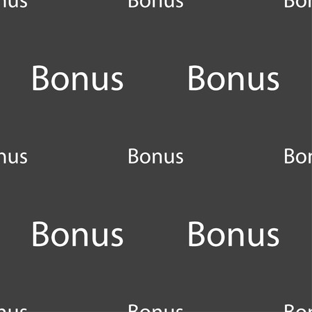 top class: Bonus sign icon. Special offer label. Seamless pattern on a gray background. Vector illustration