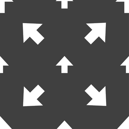 this side up: This side up sign icon. Fragile package symbol. Seamless pattern on a gray background. Vector illustration