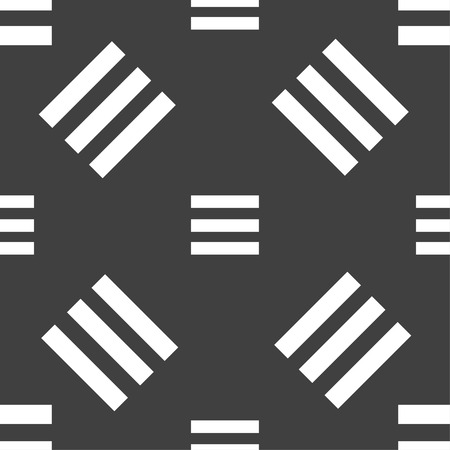 width: Align text to the width icon sign. Seamless pattern on a gray background. Vector illustration Illustration
