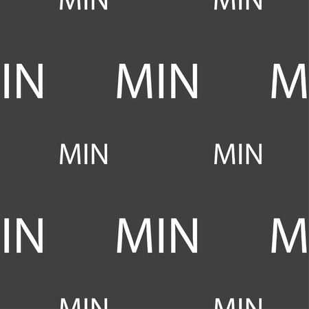 minimum: minimum sign icon. Seamless pattern on a gray background. Vector illustration