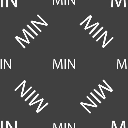 minimum sign icon. Seamless pattern on a gray background. Vector illustration