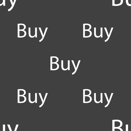 usd: Buy sign icon. Online buying dollar usd button. Seamless pattern on a gray background. Vector illustration Illustration