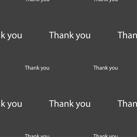 gratitude: Thank you sign icon. Gratitude symbol. Seamless pattern on a gray background. Vector illustration