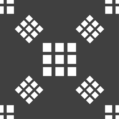 the view option: List sign icon. Content view option symbol. Seamless pattern on a gray background. Vector illustration