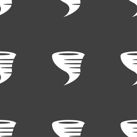 natural phenomenon: Tornado icon. Seamless pattern on a gray background. Vector illustration Illustration