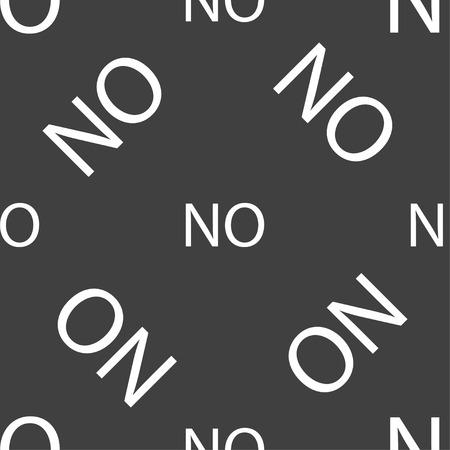 norwegian: Norwegian language sign icon. NO Norway translation symbol. Seamless pattern on a gray background. Vector illustration