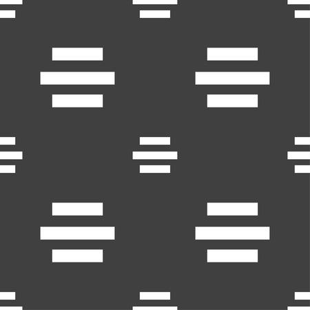 alignment: Centro signo icono de alineaci�n. Patr�n transparente sobre un fondo gris. Ilustraci�n vectorial Vectores