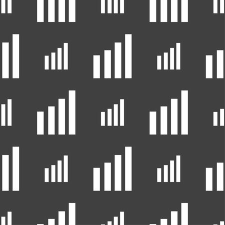 wireless signal: Mobile signal sign. Wi-fi symbol. Wireless Network icon. Wifi zone. Seamless pattern on a gray background. Vector illustration