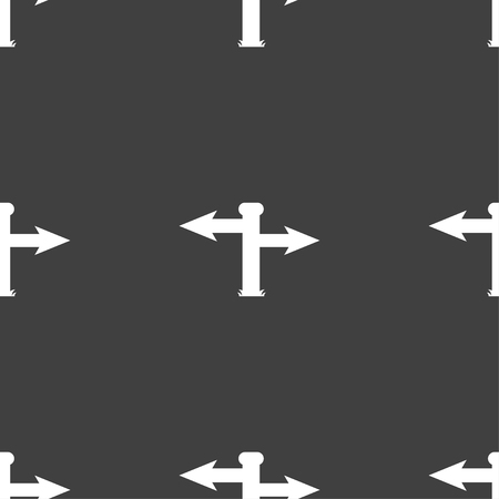 blank road sign: Blank Road Sign  icon sign. Seamless pattern on a gray background. Vector illustration