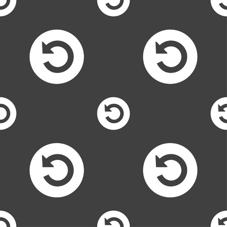groupware: Upgrade, arrow icon sign. Seamless pattern on a gray background. Vector illustration