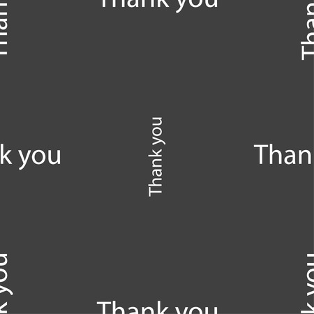 politeness: Thank you sign icon. Gratitude symbol. Seamless pattern on a gray background. Vector illustration
