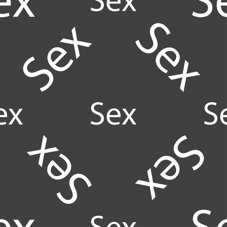 artistic nude: Safe love sign icon. Safe sex symbol. Seamless pattern on a gray background. Vector illustration