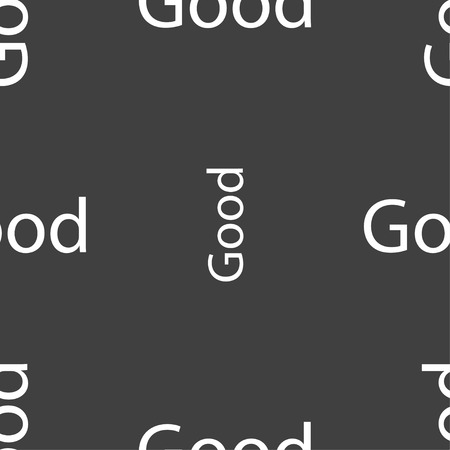 goed teken: Good sign icon. Seamless pattern on a gray background. Vector illustration