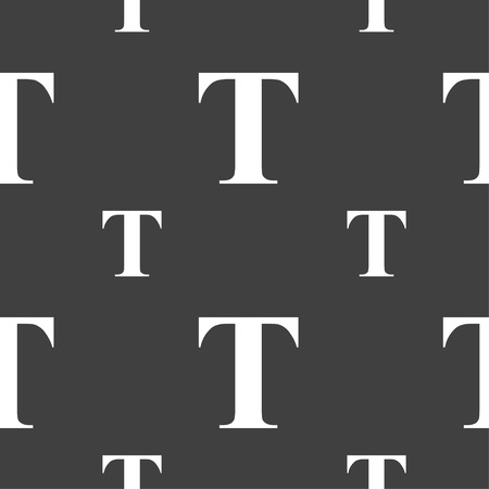 Text edit icon sign. Seamless pattern on a gray background. Vector illustration Illustration