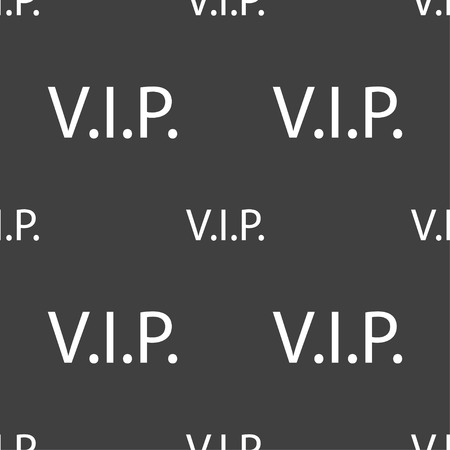 very important person sign: Vip sign icon. Membership symbol. Very important person. Seamless pattern on a gray background. Vector illustration